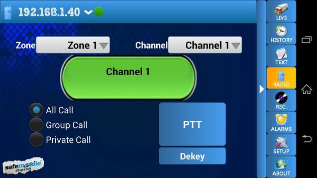 SafeMobile Dispatch Demo apk screenshot