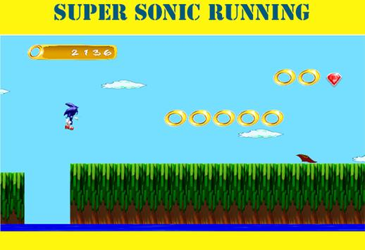 super sonic running poster