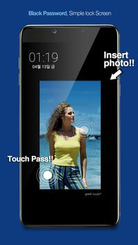 Touch Lock Screen- Easy & strong Black Password screenshot 5