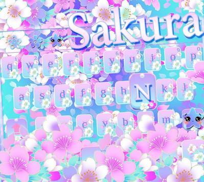 Sakura floral keyboard Theme apk screenshot