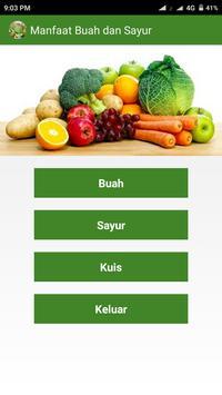Manfaat Buah dan Sayur poster