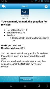 Test Prep for CAT apk screenshot