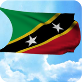 Saint Kitts and Nevis 3D Flag icon