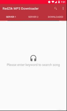 RedZik mp3 music downloader apk screenshot