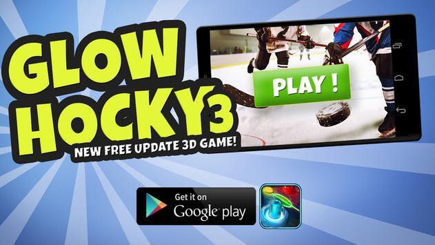 Glow Hockey 3 poster