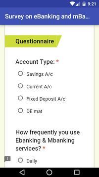 eBanking Survey App screenshot 1