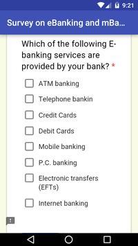eBanking Survey App screenshot 2