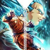 Goku Vegeta Saiyan DBS Zipper Lock Screen icon