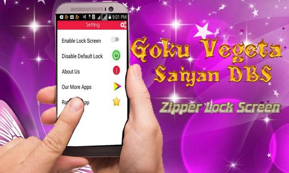 Goku Vegeta Saiyan DBS Zipper Lock Screen poster