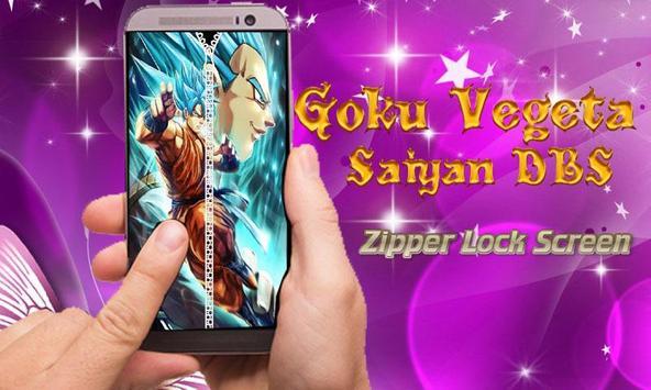 Goku Vegeta Saiyan DBS Zipper Lock Screen screenshot 1
