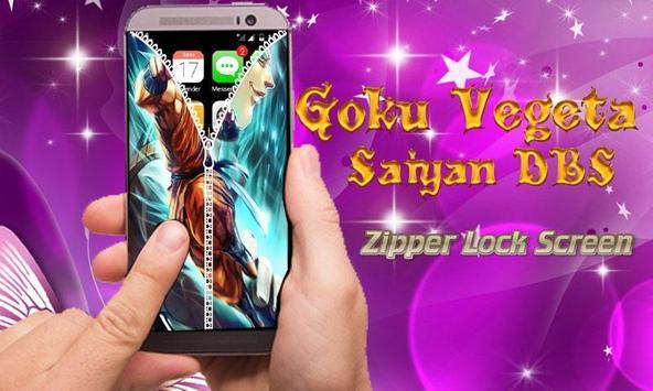 Goku Vegeta Saiyan DBS Zipper Lock Screen screenshot 2