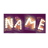 Photo Designer - Write your name with shapes