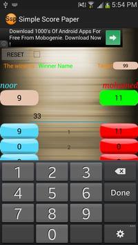 Simple Score Paper apk screenshot