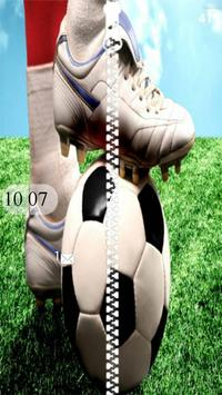 Football Soccer Zipper Lock poster