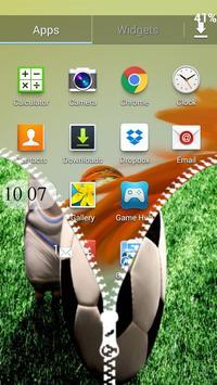 Football Soccer Zipper Lock apk screenshot