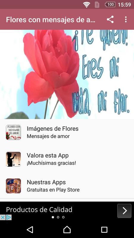 Flores Con Mensajes De Amor Fur Android Apk Herunterladen
