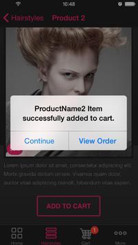Salon sample app apk screenshot