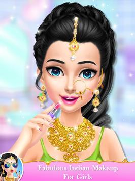 Indian Wedding Bride Fashion Dressup and Makeover screenshot 10