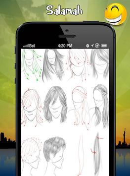 how to drawing hair apk screenshot