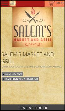 SALEM'S MARKET AND GRILL poster