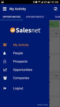 Salesnet CRM screenshot 1