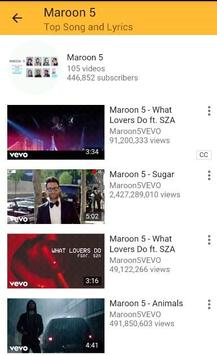 Maroon 5 Top Songs and Lyrics What Lovers Do apk screenshot