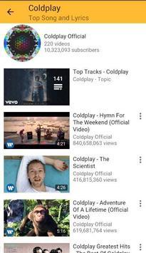 Coldplay Top Songs Something Just Like This apk screenshot