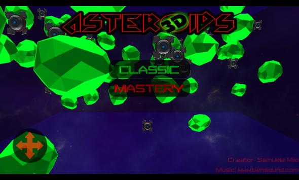 Asteroids 3D poster