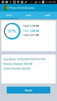 Phone RAM booster & optimizer screenshot 1