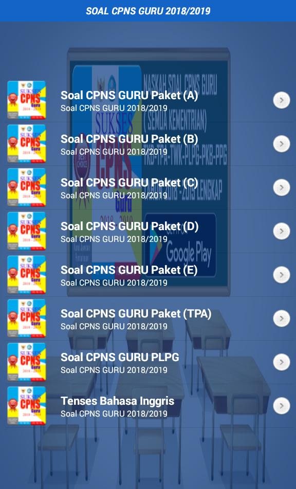 Soal Cpns Guru 2018 2019 For Android Apk Download