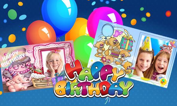 Birthday Photo Frames Kids poster