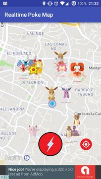 Realtime Poke Go Map poster