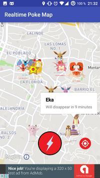 Realtime Poke Go Map screenshot 1