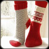 Scheme for knitting socks icon