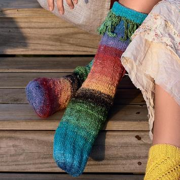 Scheme for knitting socks poster