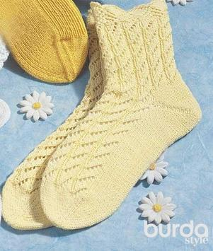 Sock knitting with needles poster
