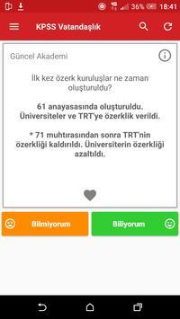 2018 KPSS Vatandaşlık Hazırlık apk screenshot