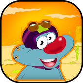 Oggy racing and jump icon