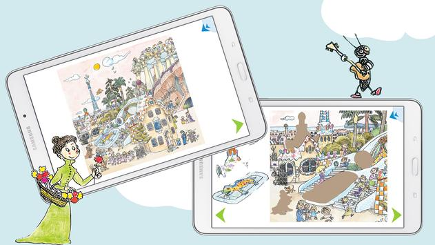 Kids Discover Barcelona & Gaudi puzzle & painting screenshot 2