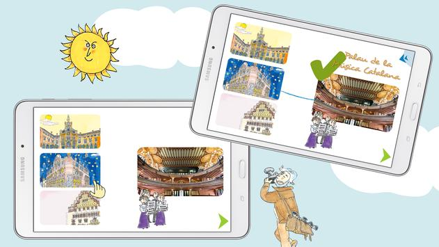 Kids Discover Barcelona & Gaudi puzzle & painting screenshot 3