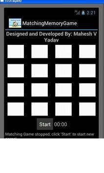 Matching Memory Game poster