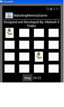 Matching Memory Game apk screenshot
