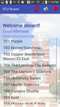 Carolina ECU Buses poster