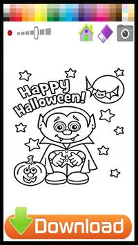 Halloween Coloring Book Kids poster
