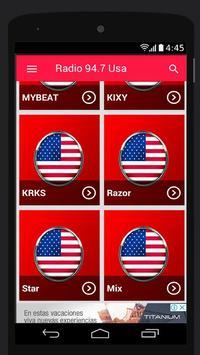 94.7 FM Radio Station Usa Music App 94.7 FM Online screenshot 1