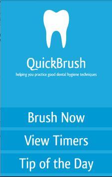 QuickBrush - Toothbrush Timer poster