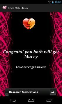 Love/Relation Calculator screenshot 1
