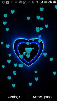 3D Neon Love Shower LWP poster