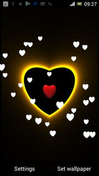 3D Neon Love Shower LWP screenshot 5