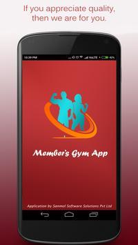 Gym Member's App poster
